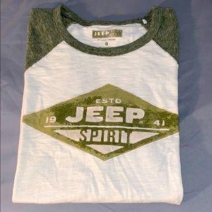 Lucky Brand Jeep baseball tee